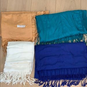 Accessories - Set of FOUR Pashmina scarves